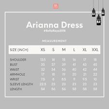 Bella Ammara Size Chart Arianna Dress Dusty Grey