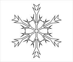 Simple Snowflake Template Demiks Co
