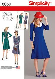 1940s Dress Patterns Awesome Simplicity 48 Vintage 48's Dress Pattern
