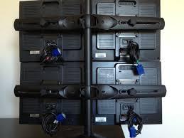 ergotron ds100 quad monitor desk stand 4x hp 1702 lcd monitors