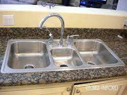 great 3 bowl kitchen sink undermount large triple bowl stainless steel with regard to triple sink kitchen remodel