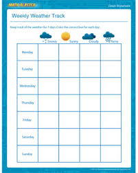 Weather Chart Free Printable Weekly Weather Track Fun Graph Worksheets For Kids