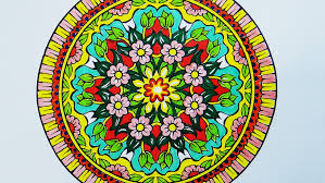 Small Picture Coloring Book Mandala with Pink Flowers YouTube