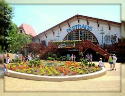 festhaus is a massive beer garden restaurant and show venue at busch gardens williamsburg this is oktoberfest is a showcase of german folk and
