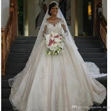 princess wedding dresses vestido de noiva manga comprida 2017