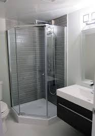 small shower stalls bathroom contemporary with basement bathroom grey bathroom