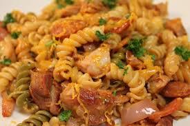cajun en and sausage pasta