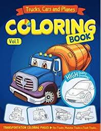 trucks planes and cars coloring book cars coloring book for kids toddlers