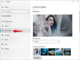 change the lock screen in windows 10