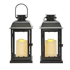 chic wooden pine pillar candle lantern