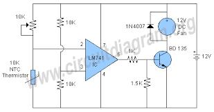 temperature control circuit diagram info temperature controlled fan circuit diagram wiring circuit