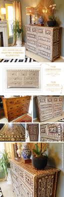anthropologie style furniture. Cutting Edge Stencils Shares A DIY Anthropogolie Inspired Bone Inlay Stenciled Dresser Using The Indian Anthropologie Style Furniture C