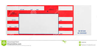 Blank Concert Ticket Template Red Concert Ticket Stock Photo Image Of Dirty Crumpled 38680538