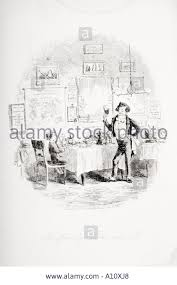 the friendly waiter and i illustration from the charles dickens stock photo the friendly waiter and i illustration from the charles dickens novel david copperfield by h k browne known as phiz