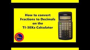 decimals on the ti 30xa calculator