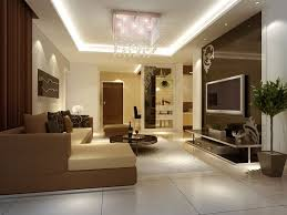 ... Living Room Design Ideas Magnificent Modern Landscape Cream Fabric Sofa  White Carpet Artistic Ceiling Lamps Round ...