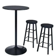 white bar table set black round bar table set kitchen round bar table 2 stools seat