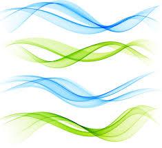 Ribbon Waves Design Vector Material 01 Free Download