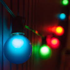 patio string lighting ideas. G50 Multicolor Satin Globe Lights On Black Wire Patio String Lighting Ideas