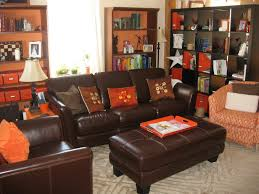 Orange And Blue Living Room Designed By Chance Painted The Room Blue