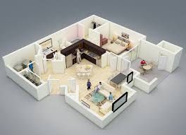 One Bedroom HouseApartment Plans - Rental apartment one bedroom apartment open floor plans
