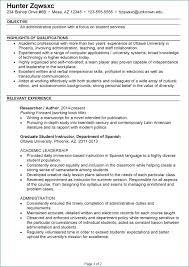 Sample Resume For Internship Lovely Intern Resume Examples