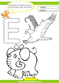 Color letter E 1