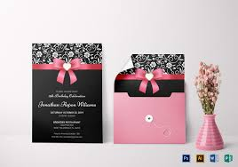 Classic Debut Invitation Card Design Template In Word Psd