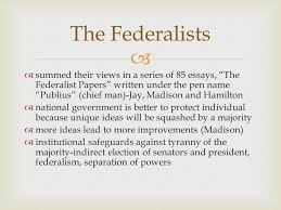 structure of the u s constitution ppt video online 8 the federalists