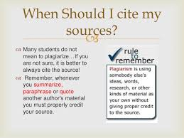 mla powerpoint for th th beginning research 6 when should i cite my