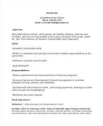Sample Personal Trainer Resume Personal Trainer Resume Manager