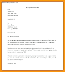 Proposal Letter Template Simple Marriage Proposal Template Virtualis