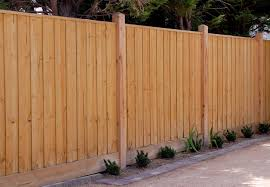 paling fence 1900mm high with capping and exposed posts