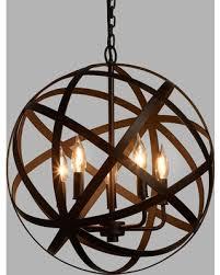 black metal chandelier. Metal Orb Chandelier: Black By World Market Chandelier