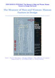 Human Factors In Engineering And Design Book Pdf Download The Measure Of Man And Woman Human Factors