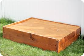 diy sandbox with lid
