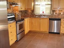 Kitchen Flooring Kitchen Brown Hardwood Kitchen Flooring With Stainless Stell