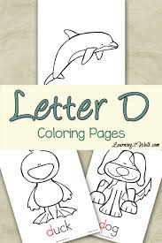 Small Picture Preschool Letter Activities Letter D Coloring Pages Letter
