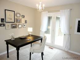 home office decorations. Decorations:Elegant Modern Home Office With Rectangle Black Laminated Wood Table And White Decorations S