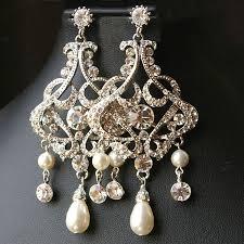 image of amazing crystal chandelier earrings