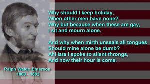 american poet ralph waldo emerson poem compensation