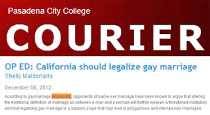 news archive org pasadena city college courier op ed california should legalize gay marriage
