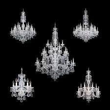 chandeliers from the schonbek sterling collection made with swarovski crystal