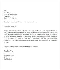 Letters Of Recommendation For College Collection Solutions