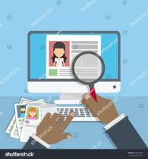 Supervising Accepting Resume Director Considering Cv Stock Vector