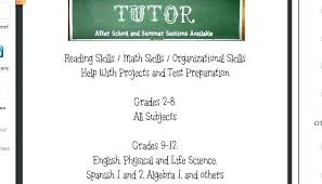 tutor flyer templates free summer reading flyer template