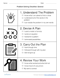 general problem solving checklist