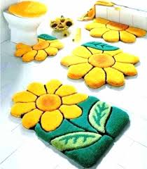 target bathroom rugs fish rug bath 5 piece sets kids cool colorful sun flowers brown