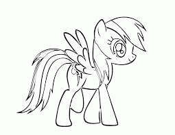 The ponies live in a wonderful country populated by peaceful creatures. My Little Pony Coloring Pages Rainbow Dash Coloring Home