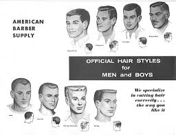 Barber Hairstyles Chart Black Men Haircuts Chart Hair 1950s Mens Hairstyles